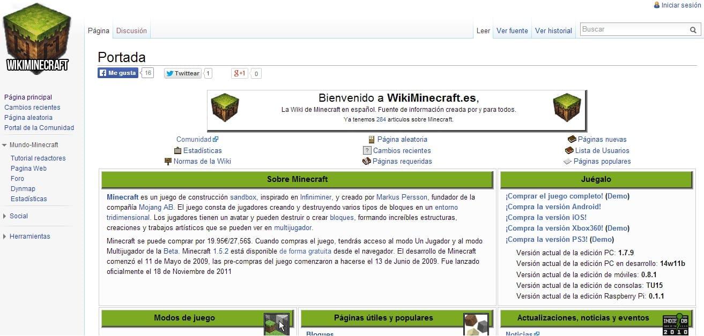Imagen de wikiminecraft en su inauguraion