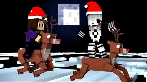 Llega la Navidad a Mundo Minecraft
