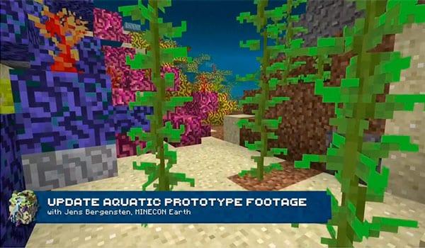 Arrecifes de coral en minecraft 1.14