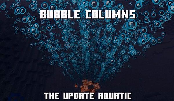 Columna de burbujas en un océano de minecraft versión 1.14
