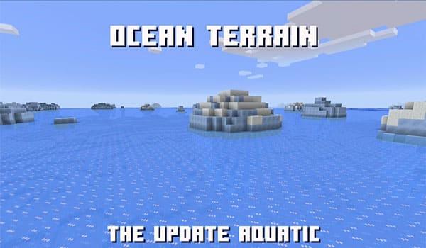 Océanos helados en la versión 1.14 de minecraft