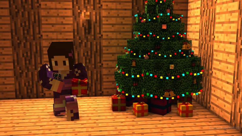 Navidad en Mundo Minecraft