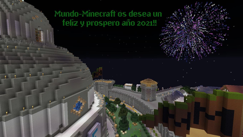La comunidad Mundo-Minecraft os desea un feliz y prospero año 2021