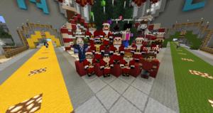 Foto navideña del staff