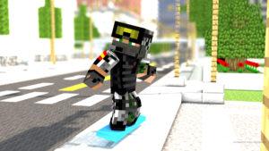 Carlosof con su skate
